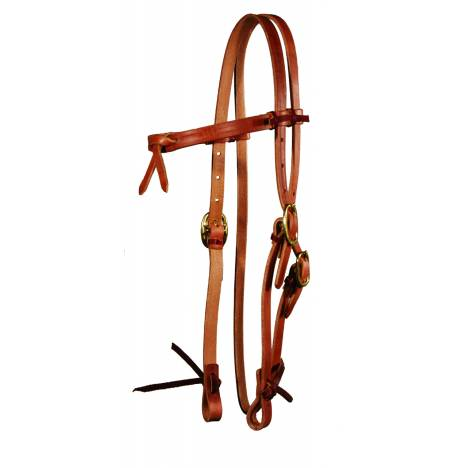 Circle Y Futurity Brow Harness Leather Headstall