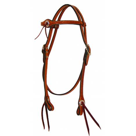 Circle Y Flared Browband Hand Tooled Headstall