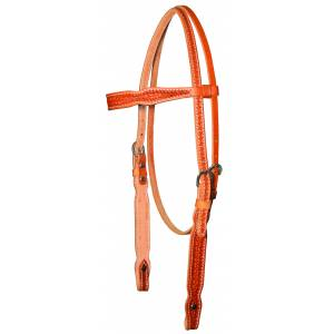 Circle Y Shaped Browband Basketweave Headstall