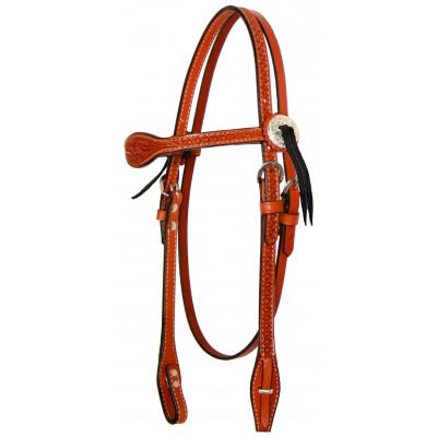 Circle Y Goodnight Floral Tooled Combo Headstall