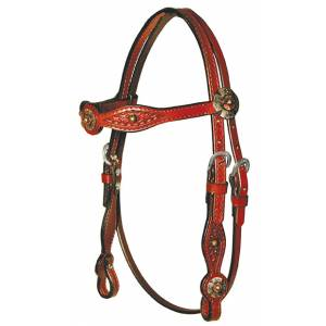 Circle Y Antique Brass Gag Headstall