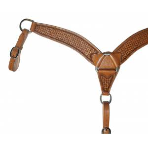 Circle Y Roper Snake Border Shaped Breast Collar