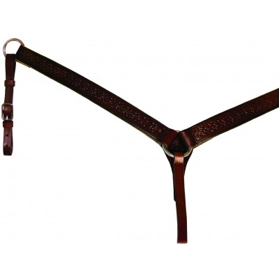 Circle Y Straight Border Tool Breast Collar