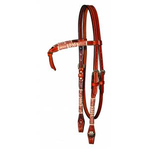 Circle Y Futurity Browband Rawhide Headstall