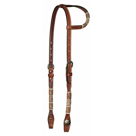 Circle Y Rawhide Lacing Basketweave One Ear Headstall