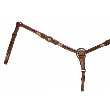 Circle Y Scalloped Rawhide Breast Collar
