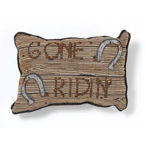Gift Corral Gone Ridin' Throw Pillow