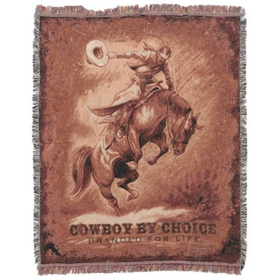 Gift Corral Cowgirl By Choice - Branded for Life Throw