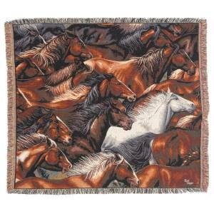 Gift Corral Horse Different Color Throw
