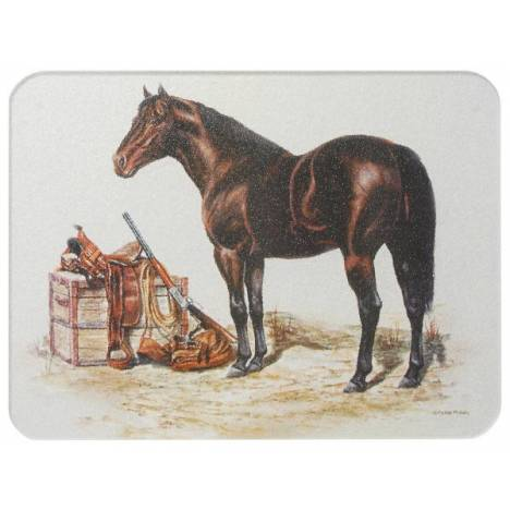 Gift Corral Horse With Saddle & Gear Cutting Board