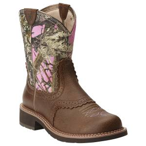 Ariat Fatbaby Heritage Boots - Ladies, Brown/Pink Camo