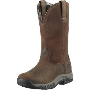 Ariat Terrain Pull-On H2O Boot - Ladies, Distressed Brown