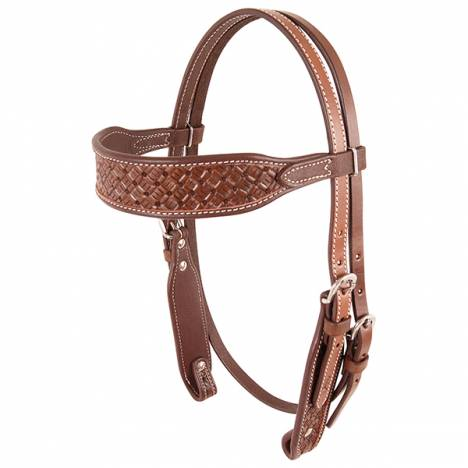 Cashel Browband Headstall - Chocolate Weave