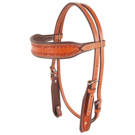 Cashel Browband Headstall - Chestnut Barbwire