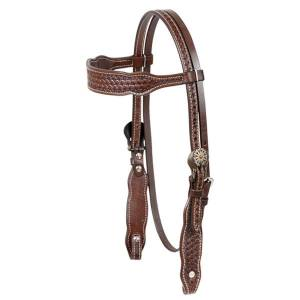 Cashel Browband Basket Headstall with Conchos