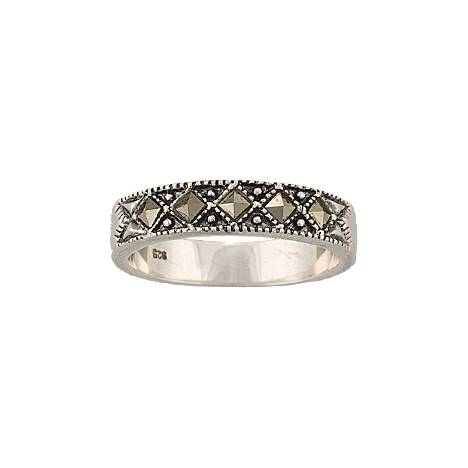 Montana Silversmiths Sparks Will Fly Marcasite Night Wanderer Band Ring
