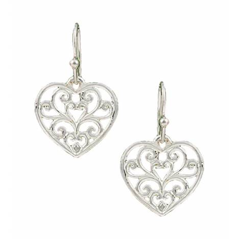 Montana Silversmiths Petit Heart'S Flame Lattice Earrings