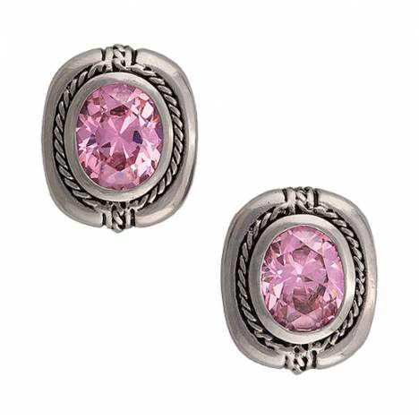 Montana Silversmiths Cowgirl Class Earrings In Pink