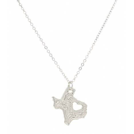 Montana Silversmiths I Heart Texas Necklace