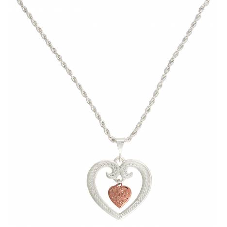 Montana Silversmiths Two Tone Copper Finish Heart Of Mine Necklace