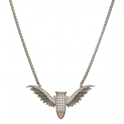Montana Silversmiths Girls With Guns  Bullet In Flight Necklace