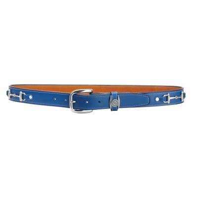 Tory Leather Silver Snaffle Bits Belt