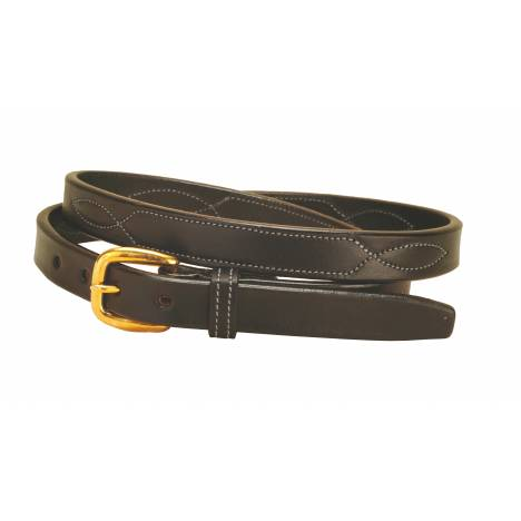 Tory Leather Stitched Pattern Leather Belt