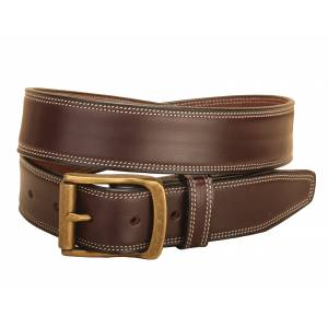Tory Leather Double Edge Stitched Leather Belt