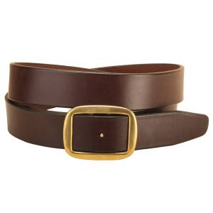 Tory Leather Square Conway Buckle Wide Belt