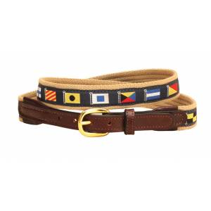 Tory Leather Narrow Web Nautical Belt