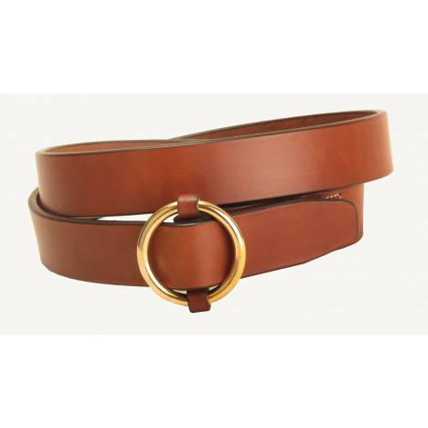 Tory Leather Brass Ring Buckle Leather Belt