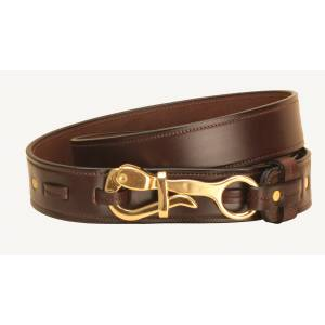 Tory Leather Pelican Buckle Leather Belt