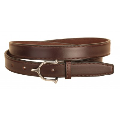 Tory Leather English Spur Buckle Belt