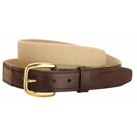 Tory Leather Wide Web Belt with Oakbark Billets