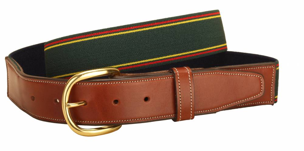 Tory Leather Elastic Belt With Leather Equestriancollections