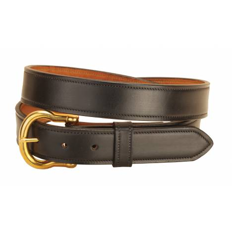 "Tory Leather 1-1/4"" Double & Stitched Belt"