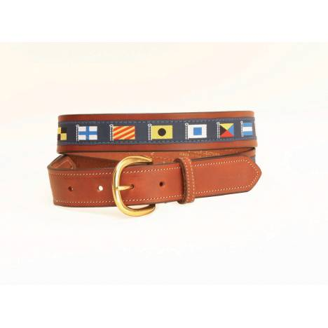 Tory Leather Padded Leather Nautical & Rivet Belt