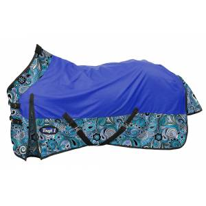 Tough-1 1200D Waterproof Poly Turnout Sheet - Paisley Shimmer Print