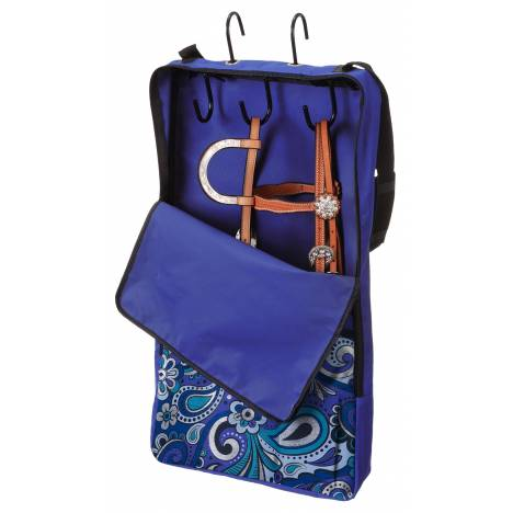Tough-1 Halter Bridle Bag with Rack - Metallic Paisley
