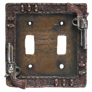 Gift Corral Pistols Double Switch Plate