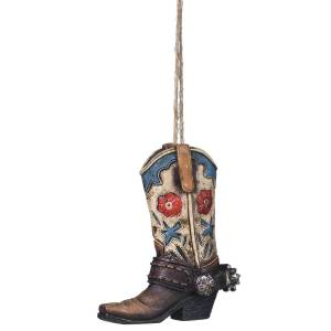 Floral Boot Ornament