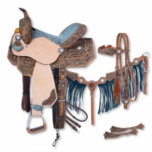 Silver Royal Skylar Barrel Saddle 5 Piece Package