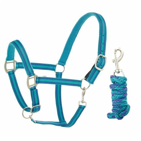 Centaur Fleece Padded Halter with Lead - Plaid