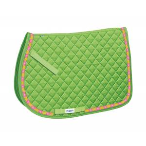 Perri's All Purpose Saddle Pad with Ribbon Trim - Frogs