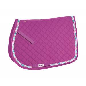 Perri's All Purpose Saddle Pad with Ribbon Trim - Hearts