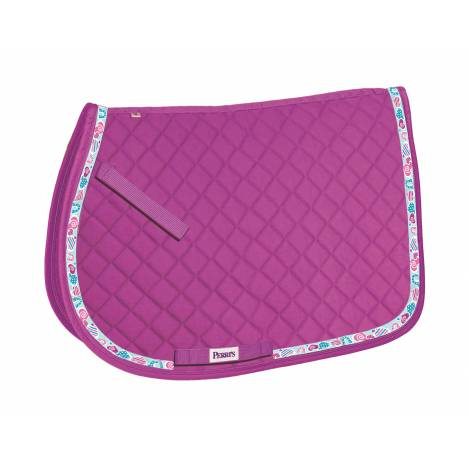 Perri's Pony Saddle Pad with Ribbon Trim - Hearts
