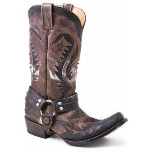 Stetson Snip Rocker Toe Harness Boots - Mens, Bleached Brown