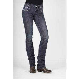 Stetson 541 Fit Stovepipe Jeans - Ladies - Light Wash