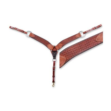 "Martin Saddlery 2 3/4"" Breast Collar - Skirting Leather, Martin Basket Stamped"
