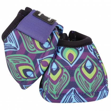 Classic Equine DyNo Turn Designer Line Bell Boots - Purple Peacock